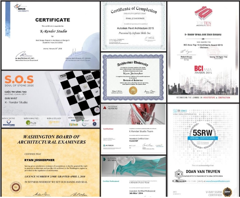 Some-certificates-of-K-Render-Studio-the-architectural-rendering-company